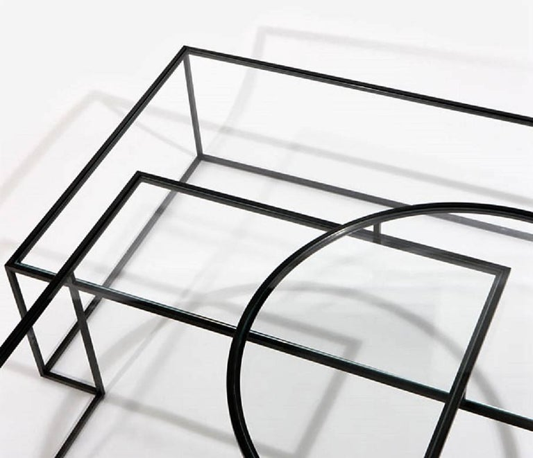 Lebanese Geometrik Coffee Table, Contemporary Architectural Steel Coffee Table For Sale