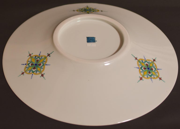 Large Contemporary Japanese Kutani Porcelain Charger by Master Artist For Sale 1