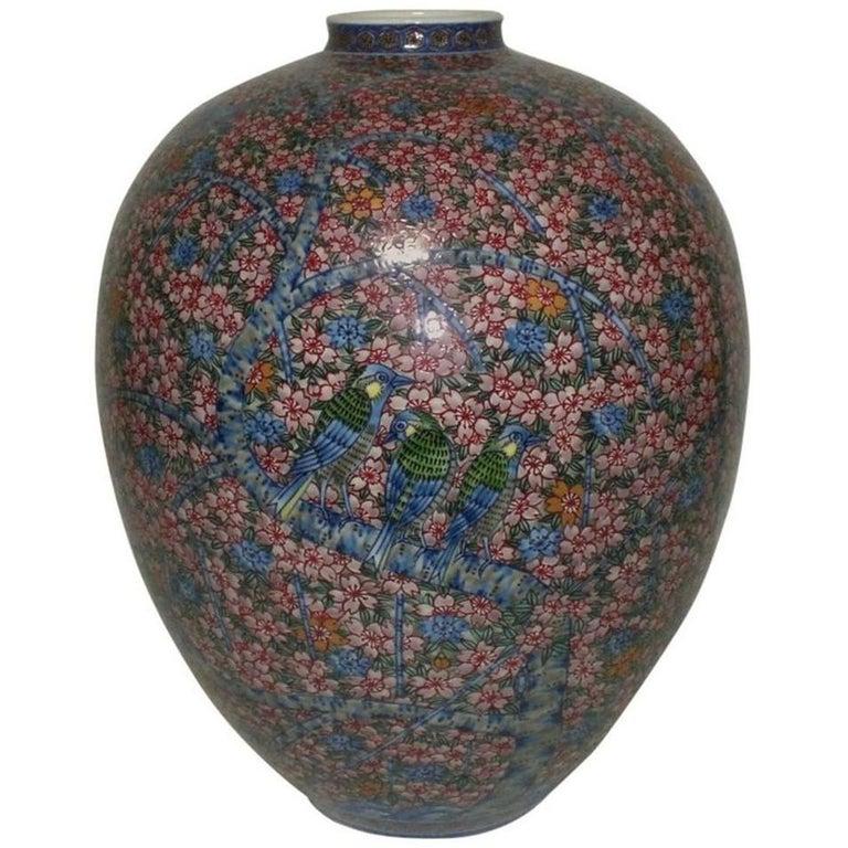 Large Contemporary Imari Porcelain Vase by Japanese Master Artist