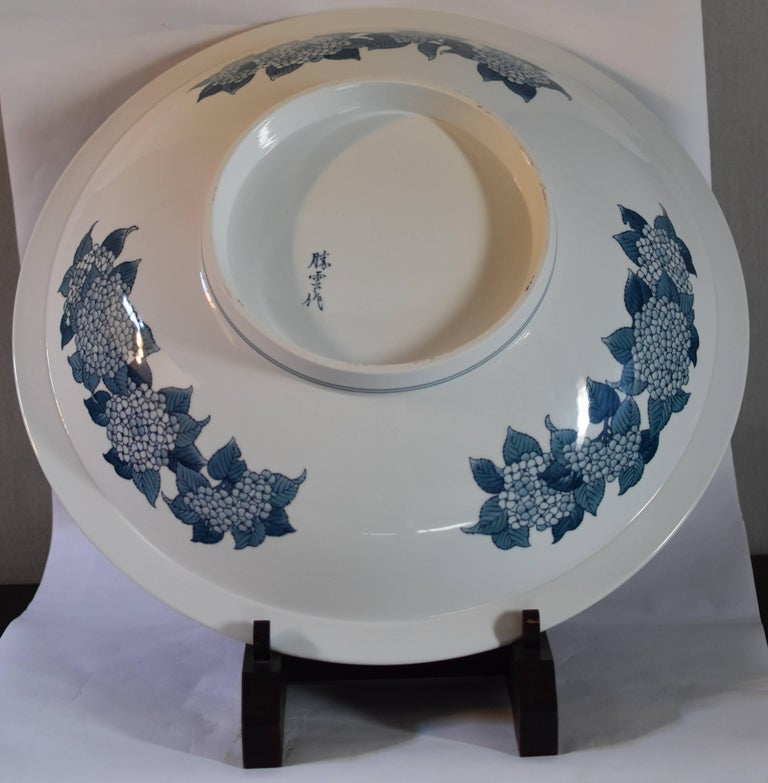 Very Large Japanese Imari Porcelain Centerpiece by Contemporary Master Artist For Sale 3