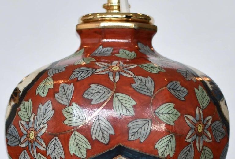 Massive Japanese Vintage Imari Gilded Hand-Painted Porcelain Lamp, Circa 1970 For Sale 1