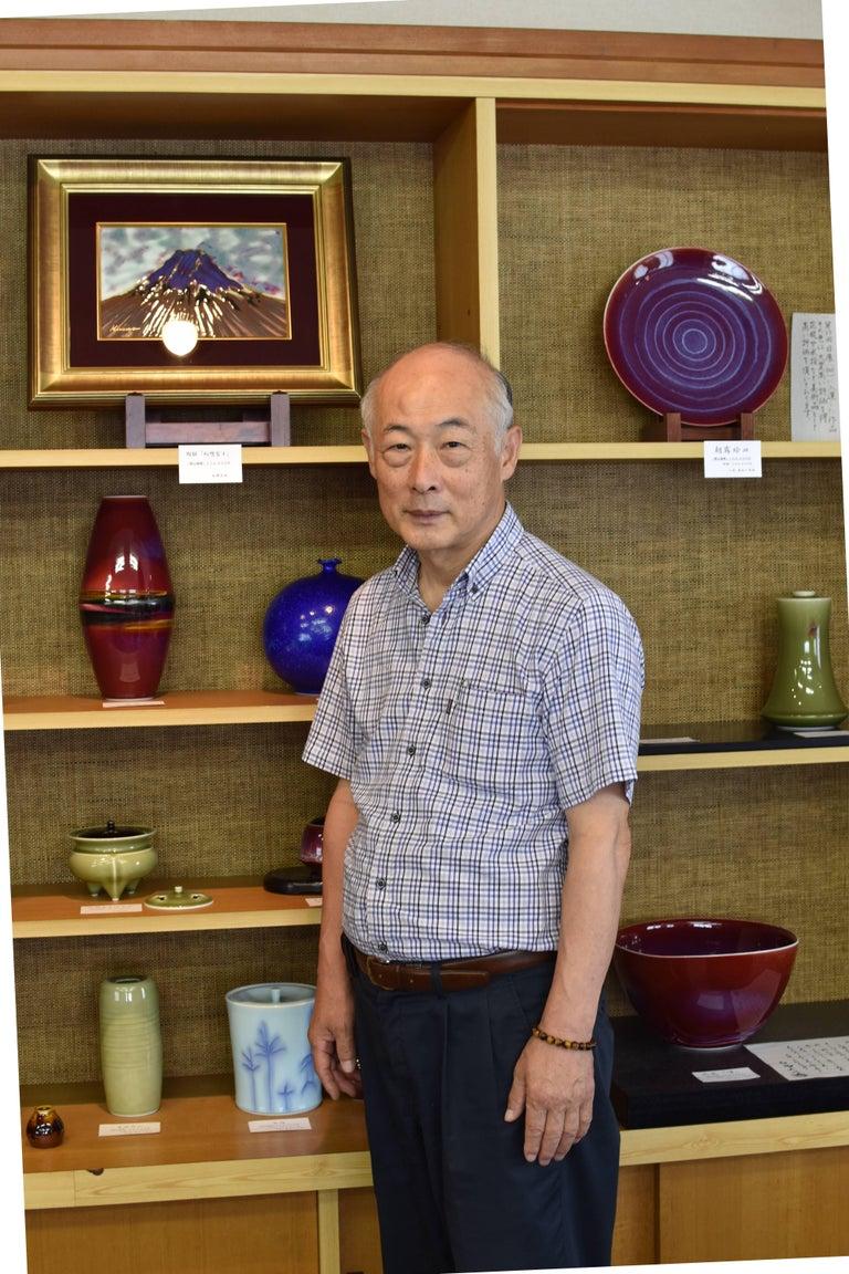 Large Japanese  Decorative Porcelain Vase by Master Artist For Sale 2