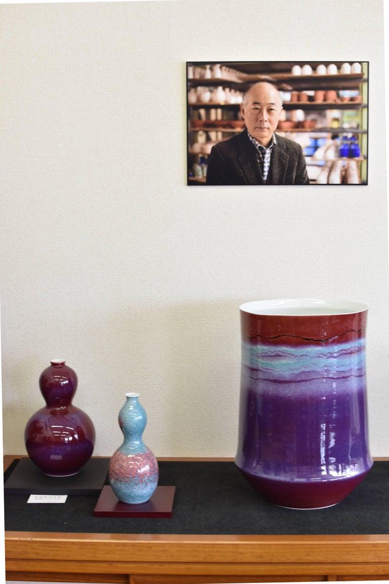 Large Japanese  Decorative Porcelain Vase by Master Artist For Sale 4