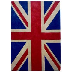 100% New Zealand Wool Handmade Union Jack Rug