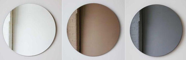 Bronze Orbis Round Mirror, Frameless - Diam. 100cm / 39.4