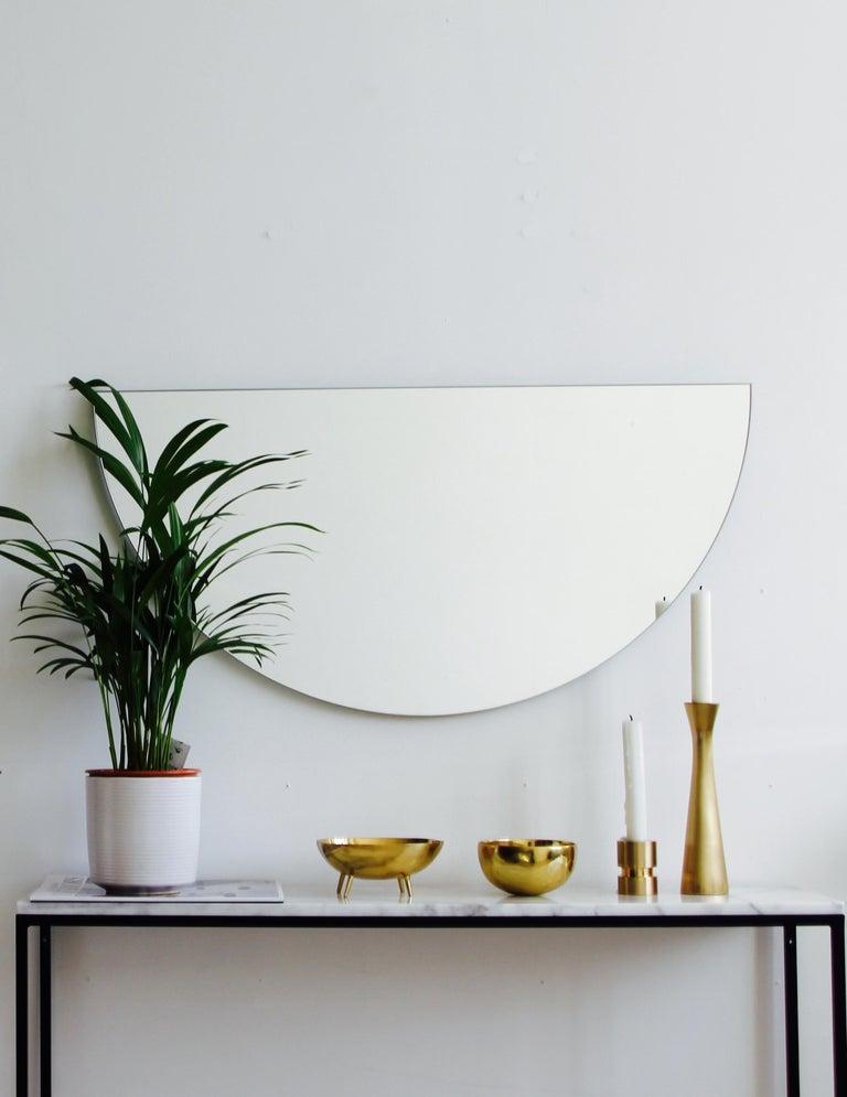 British Luna Orbis Semi Round Mirror Frameless, 1 Piece 100cm/39.7