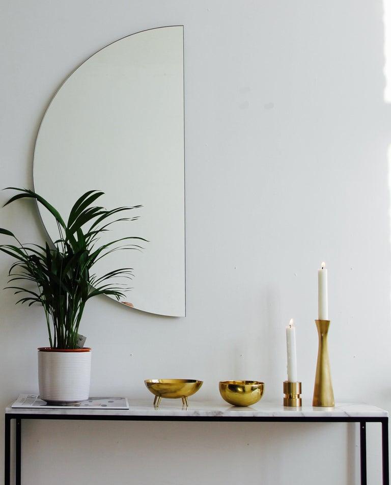 Silvered Luna Orbis Semi Round Mirror Frameless, 1 Piece 100cm/39.7
