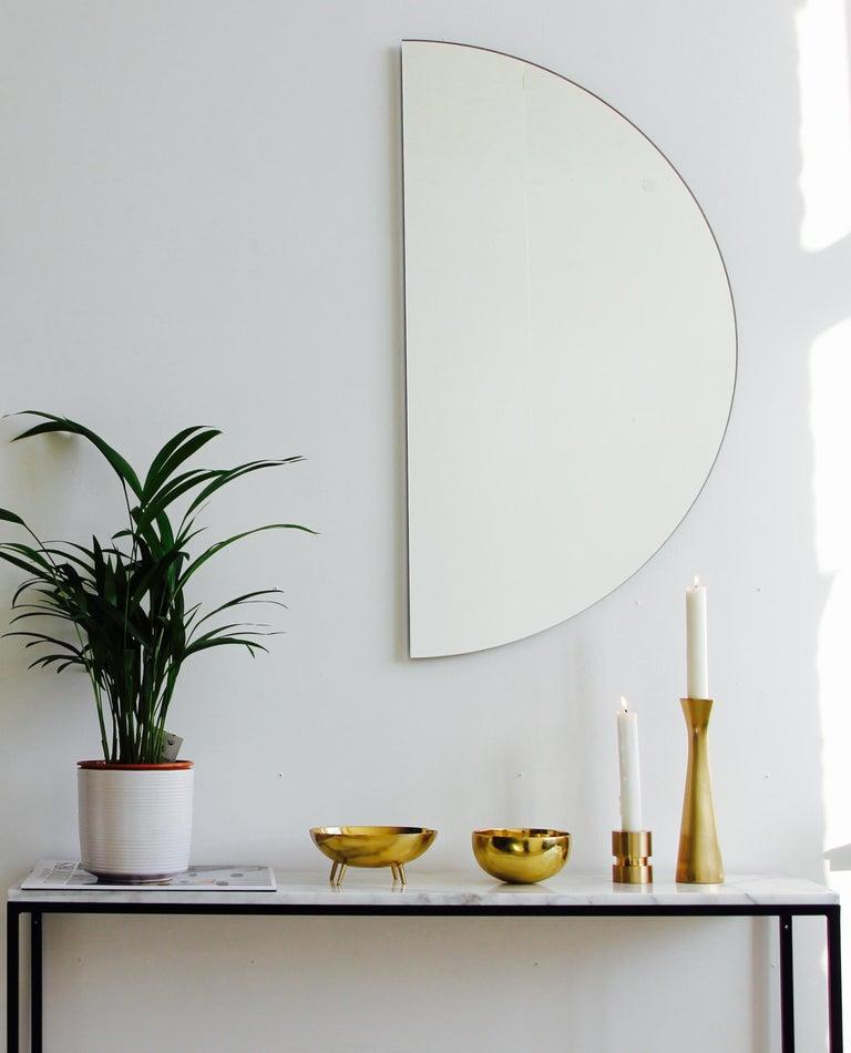 Luna Orbis Semi Round Mirror Frameless, 1 Piece 100cm/39.7