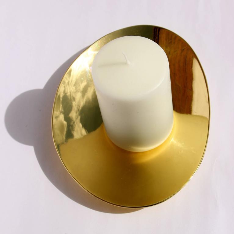 Contemporary Set of Handmade Cast Brass Plates For Sale