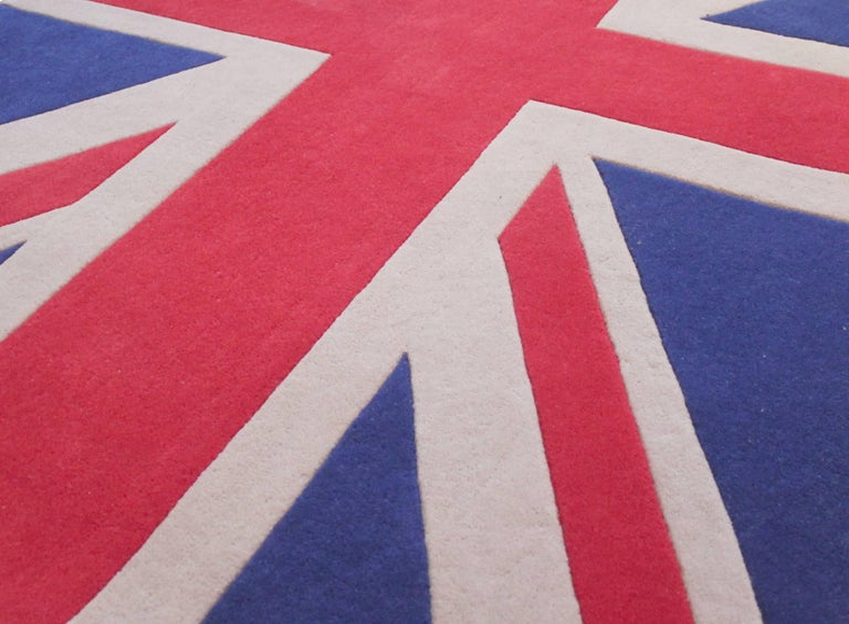 100 New Zealand Wool Handmade Union Jack Rug At 1stdibs