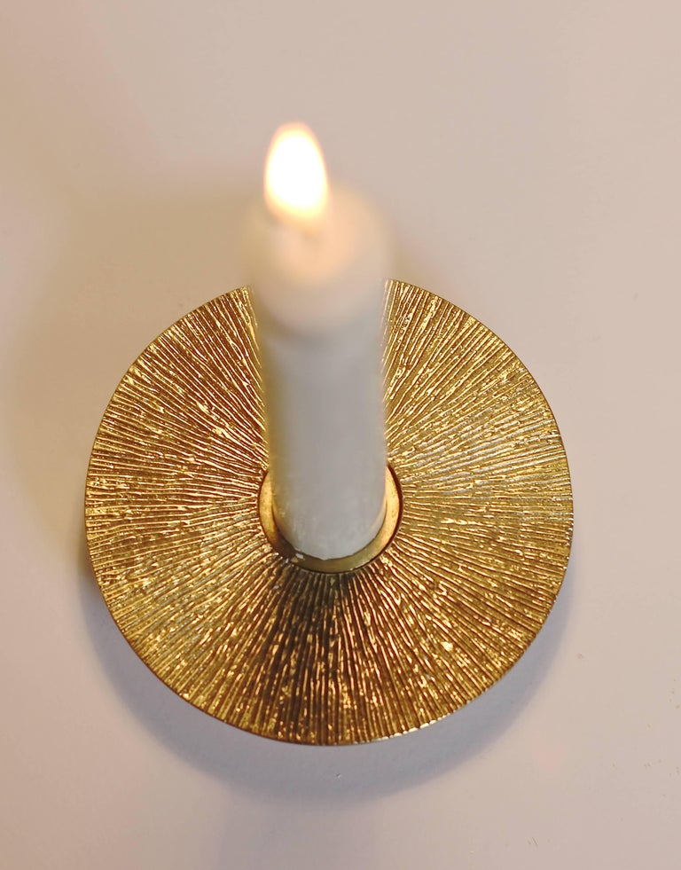 Handmade Brass Sun Candleholder, Tapered Candles For Sale ...