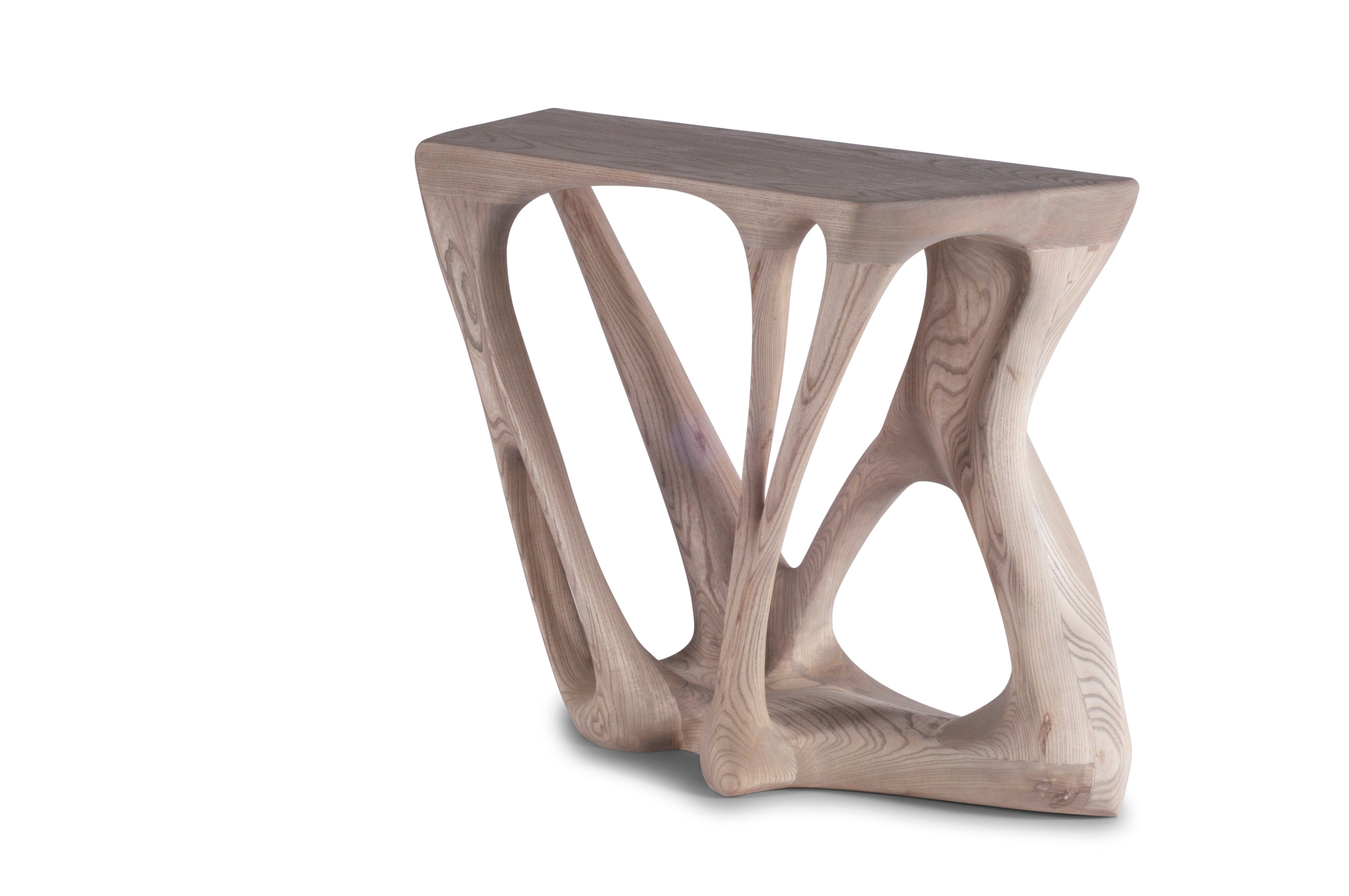 Amorph Petra Console Table, Stained Weathered Oak,