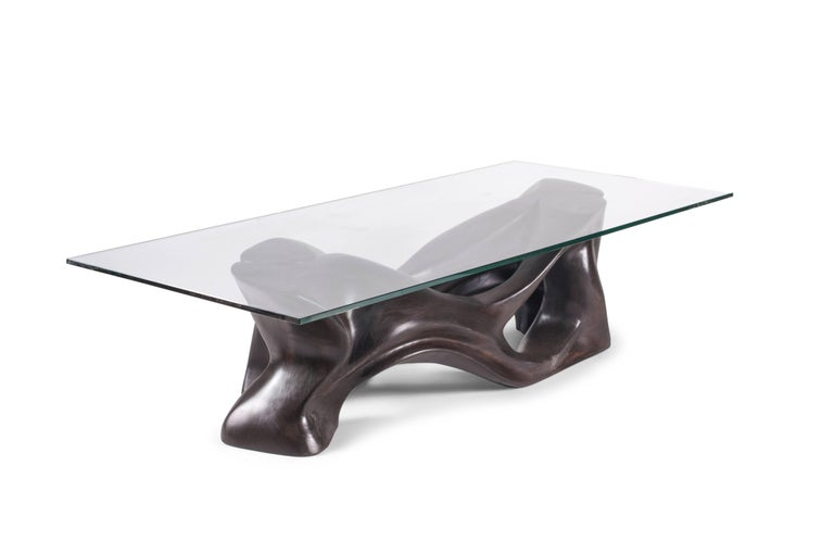 Modern Amorph Crux Coffee Table, Stained Ebony,   For Sale