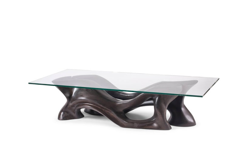 American Amorph Crux Coffee Table, Stained Ebony,   For Sale