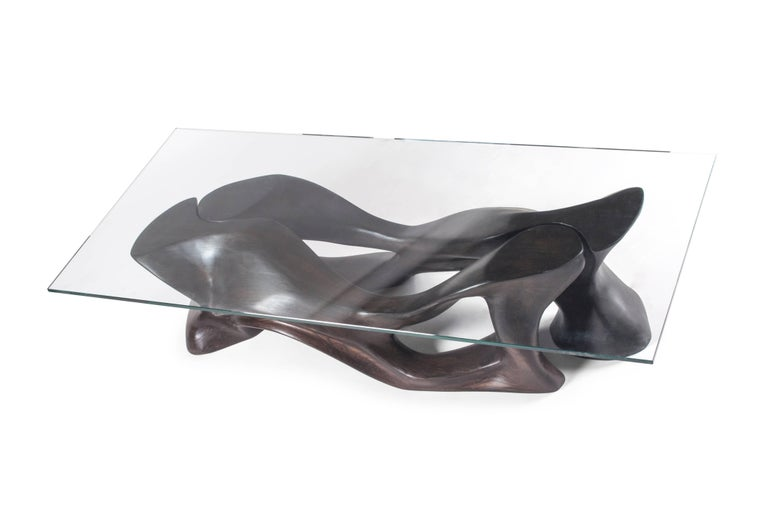 Contemporary Amorph Crux Coffee Table, Stained Ebony,   For Sale