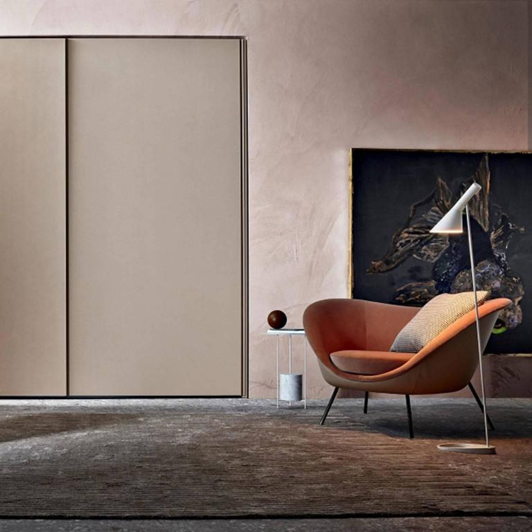 Molteni Gio Ponti D.154.2 Armchair in Velvet In New Condition For Sale In Boston, MA