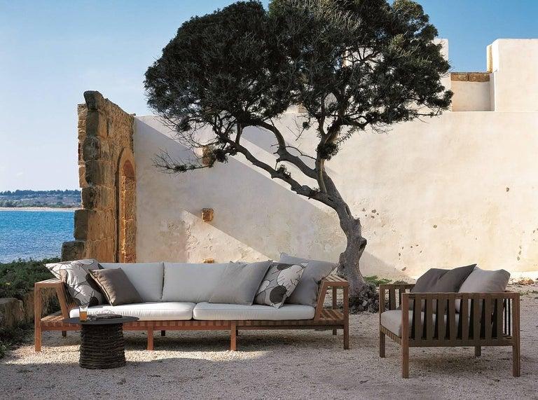 Modern Roda Network 130 Outdoor Teak Sofa For Sale
