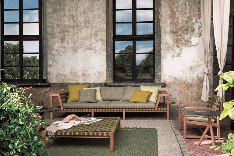 Italian Roda Network 130 Outdoor Teak Sofa For Sale