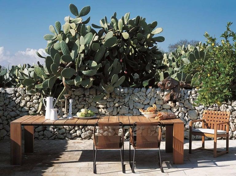 Italian Network 159 Outdoor Teak Dining Armchair For Sale