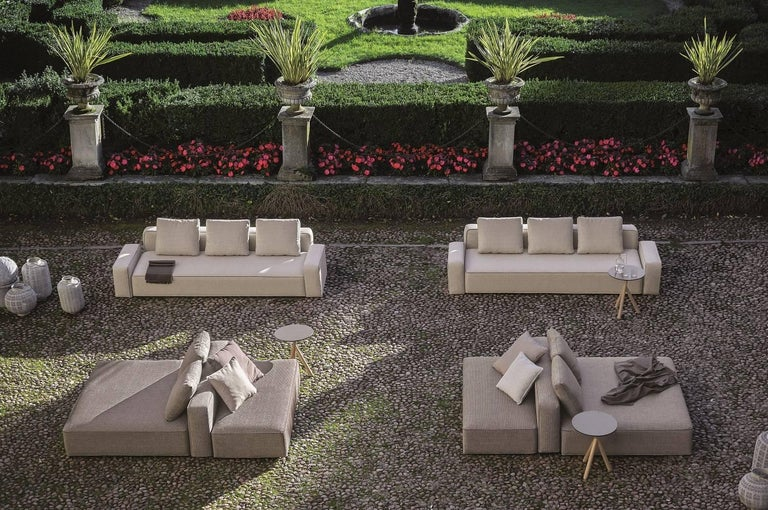 Modern Roda Dandy Indoor/Outdoor Sectional in Plot D01 Sand Upholstery For Sale