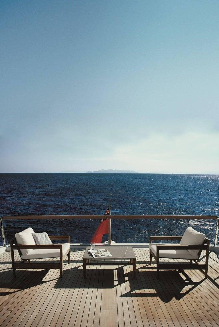 Italian Roda Indoor/Outdoor Road 226 Coffee Table with Farsena Stone For Sale