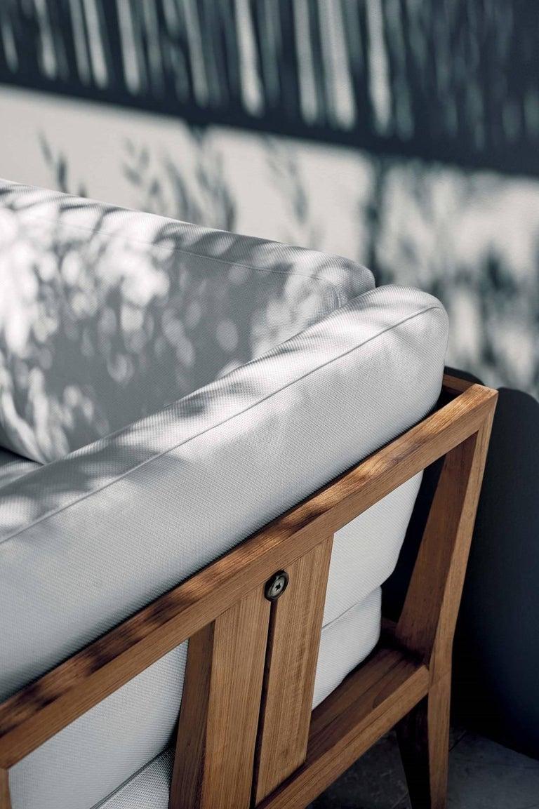 Italian Roda Indoor/Outdoor Teka Sofa Designed by Gordon Guillaumier For Sale