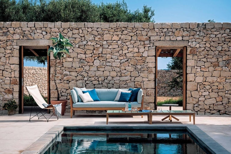 Contemporary Roda Indoor/Outdoor Teka Sofa Designed by Gordon Guillaumier For Sale