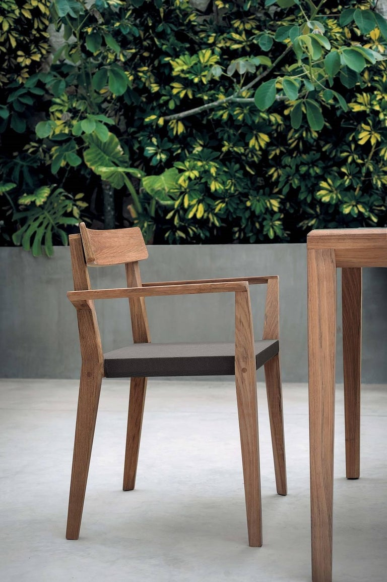 Modern Roda Teka 171 Indoor/Outdoor Stacking Chair Designed by Gordon Guillaumier For Sale
