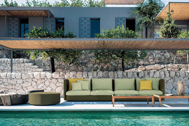 Modern Roda Double 032 Indoor/Outdoor Pouf Designed by Rodolfo Dordoni For Sale