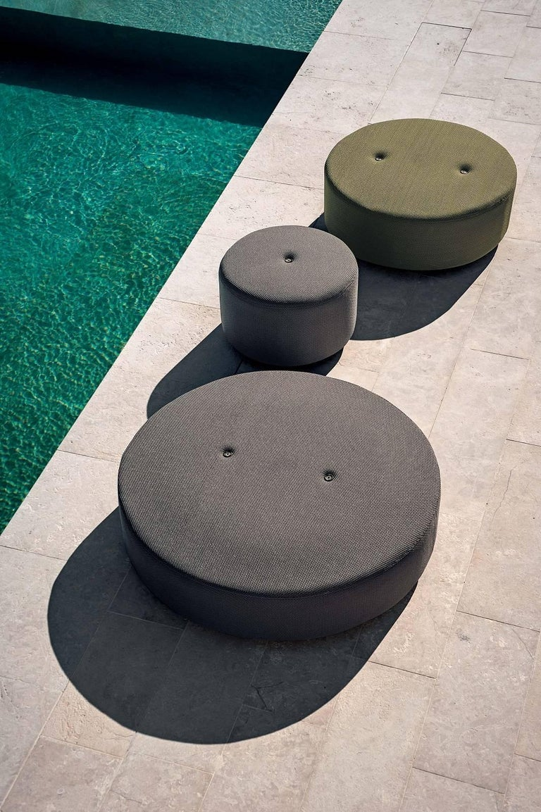 Italian Roda Double 033 Indoor/Outdoor Pouf designed by Rodolfo Dordoni For Sale