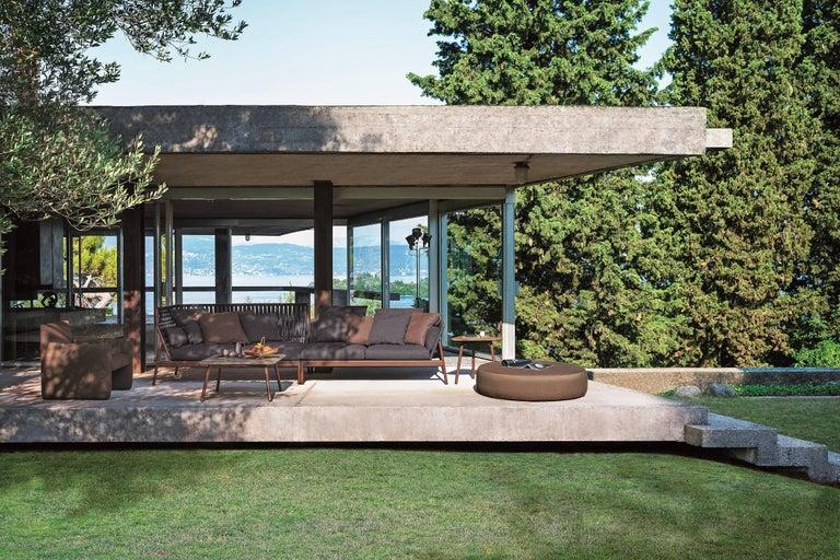 Powder-Coated Roda Indoor or Outdoor Piper 103 Sofa Designed by Rodolfo Dordoni For Sale
