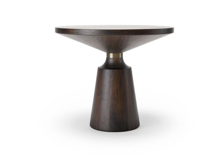 Table Nicole Occasional in Walnut and Brass by Stuart Scott, 2017 3