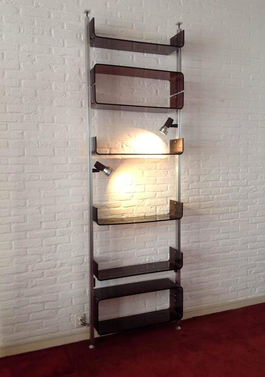 1970s Michel Ducaroy Lucite Shelving Unit For Sale At 1stdibs