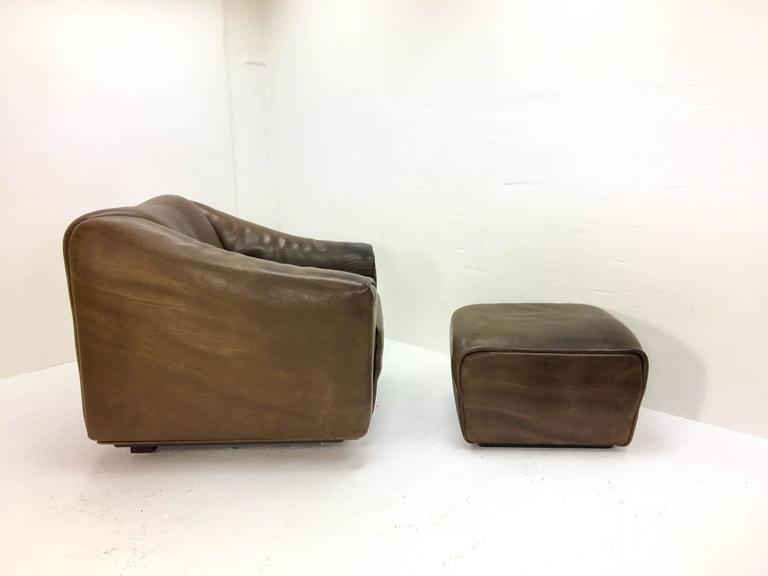 1970s De Sede Lounge Chair with Ottoman For Sale 3