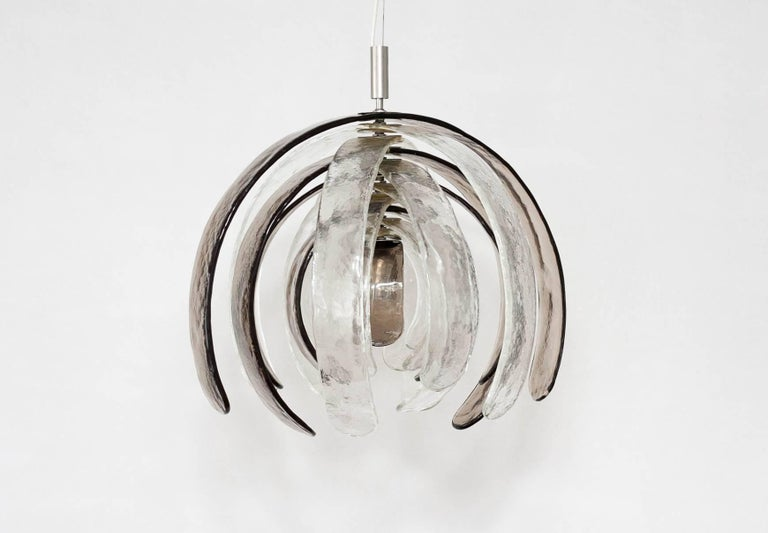 Mid-Century Modern Carlo Nason for Mazzega 'Artichoke' Murano Glass Chandelier, 1960s For Sale