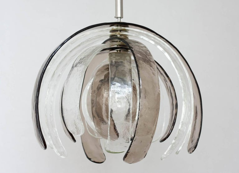 Italian Carlo Nason for Mazzega 'Artichoke' Murano Glass Chandelier, 1960s For Sale