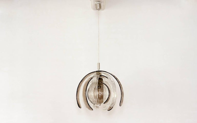 Mid-20th Century Carlo Nason for Mazzega 'Artichoke' Murano Glass Chandelier, 1960s For Sale