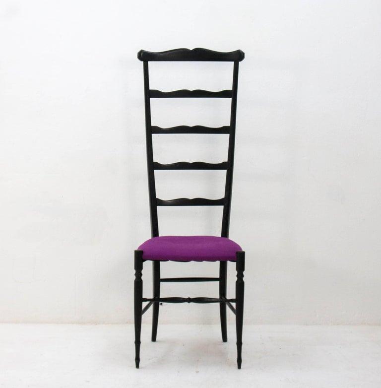 Graceful ladder back, 1940s Italian Chiavari chair. beechwood .
