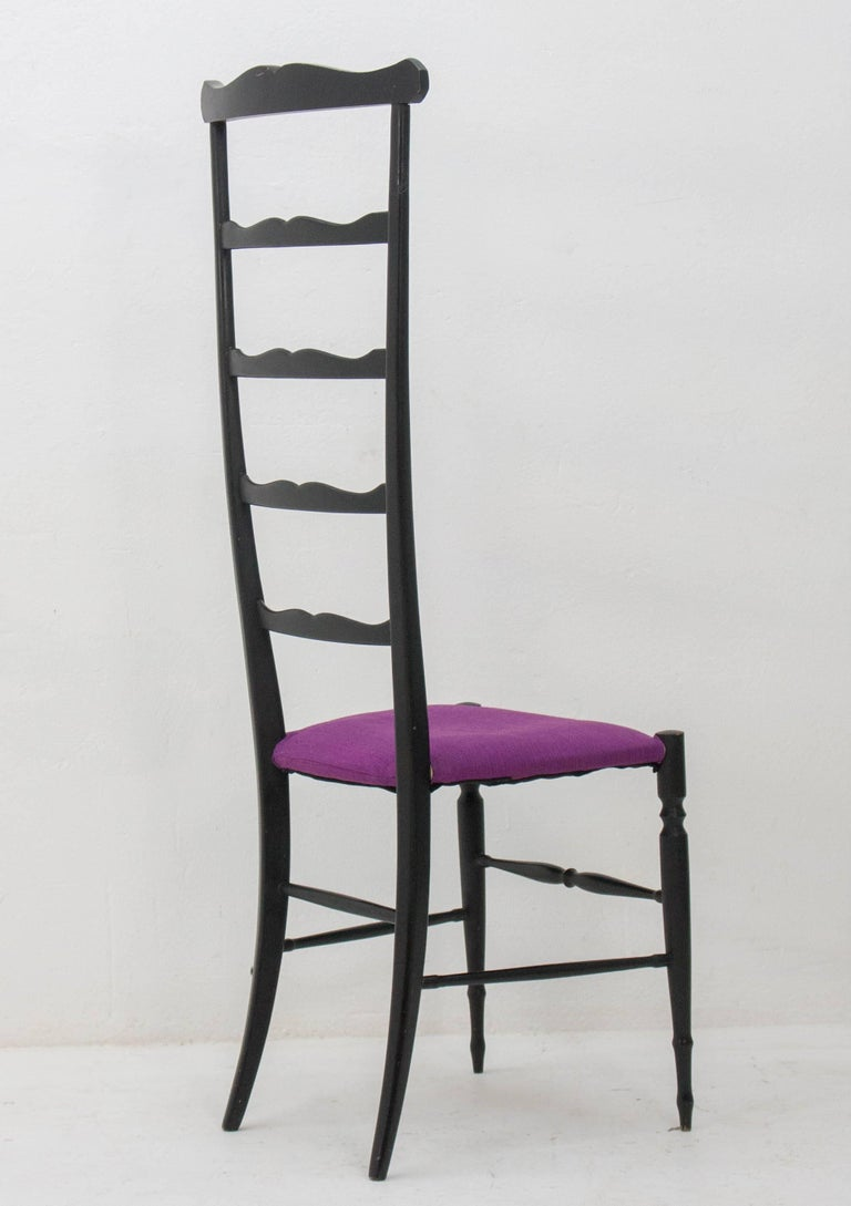 Mid-20th Century Chiavari Ladder Back Side Chair, Italy, 1940s For Sale