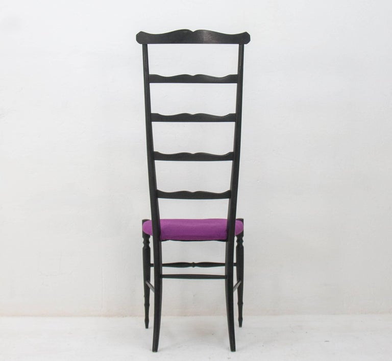 Chiavari Ladder Back Side Chair, Italy, 1940s In Good Condition For Sale In Den Haag, NL