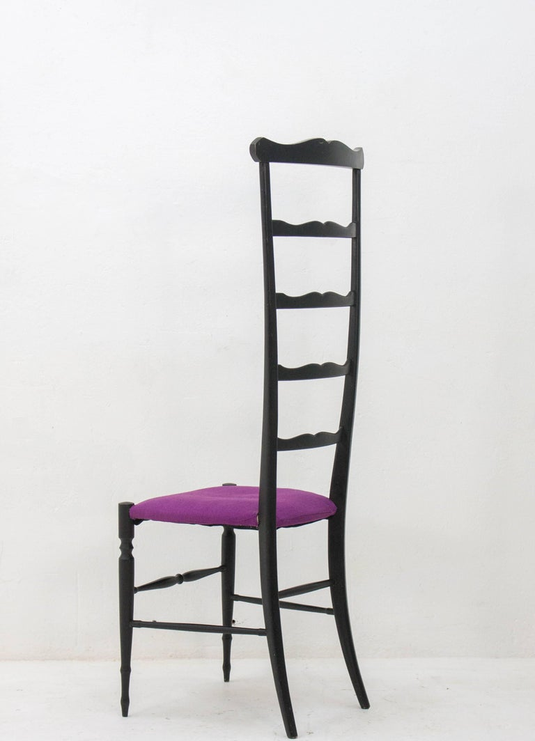 Italian Chiavari Ladder Back Side Chair, Italy, 1940s For Sale