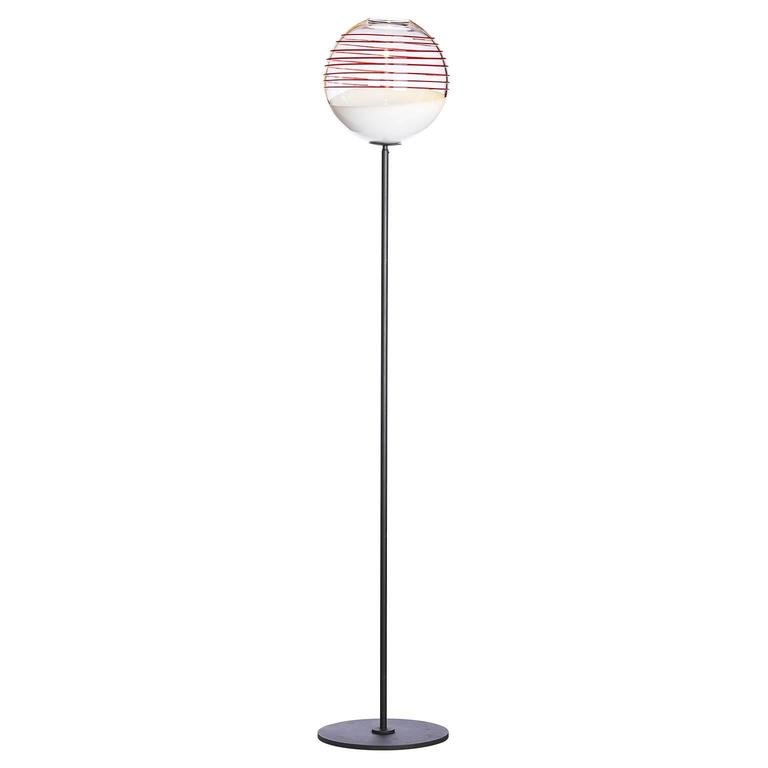 Boblu T Carlo Moretti Contemporary Mouth Blown Murano Glass Floor Lamp
