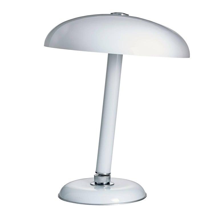 Snodo Carlo Moretti Contemporary Milk White Murano Glass Table Lamp For Sale