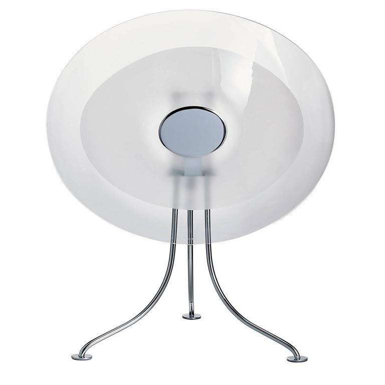 Scudo Carlo Moretti Contemporary Murano Clear Glass Desk or Table Lamp For Sale