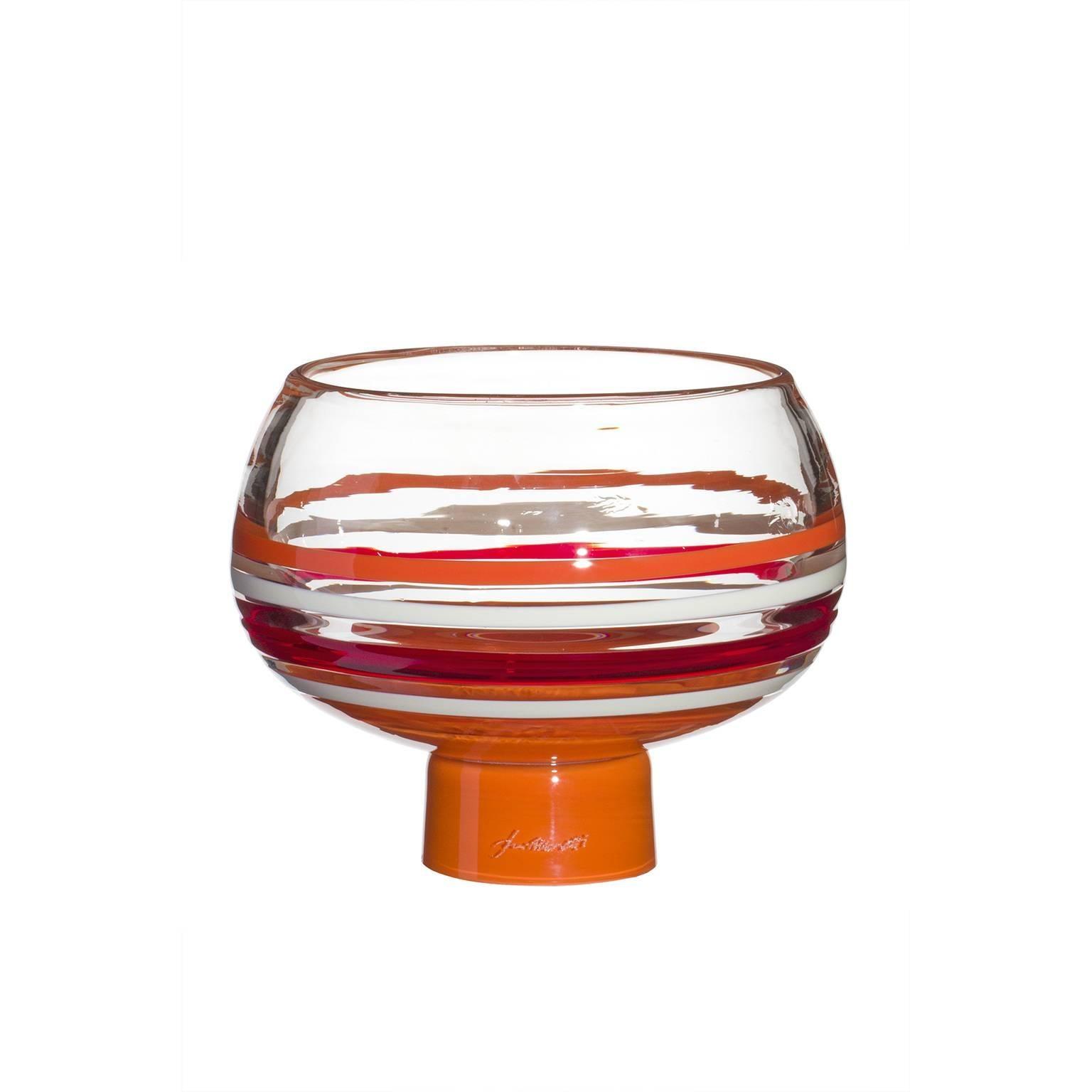 Vola Carlo Moretti Mouth Blown Murano Glass Bowl
