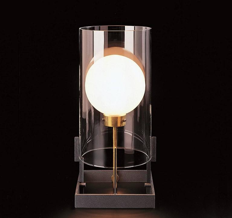 Italian Quati Carlo Moretti Contemporary Mouth Blown Clear Murano Glass Table Lamp For Sale