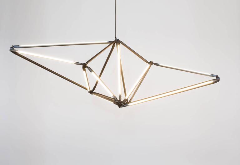 American Bec Brittain Shy 01, Customizable Brass Chandelier For Sale