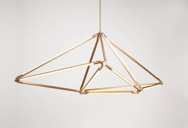 American Bec Brittain Shy 08.1, Brass LED Chandelier For Sale
