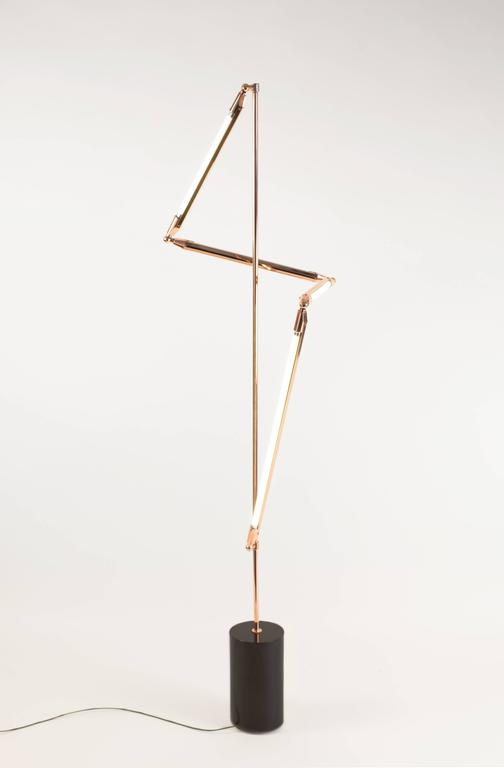 Bec Brittain Helix Floor, Brass LED Floor Lamp with Marble Base 2