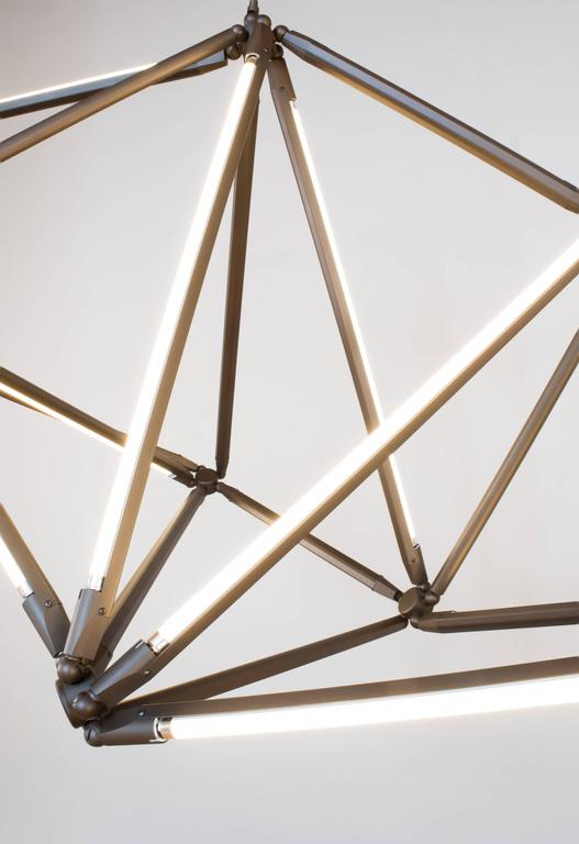 Bec Brittain Shy 01, Customizable Brass Chandelier In New Condition For Sale In New York, NY